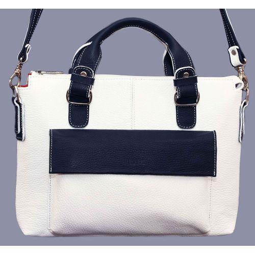 Женская кожаная сумка Wk20 Fl6N4 белая