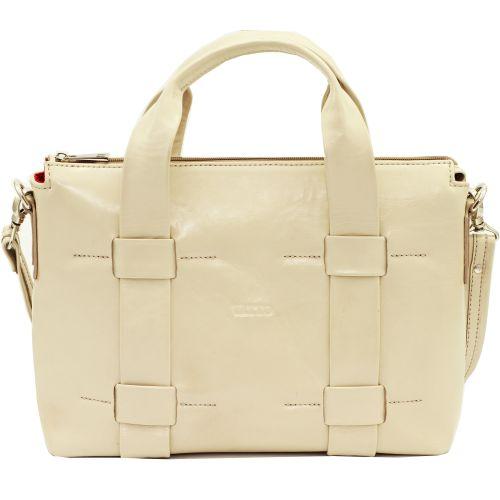 Женская кожаная сумка VATTO Wk22 Napl5 бежевая