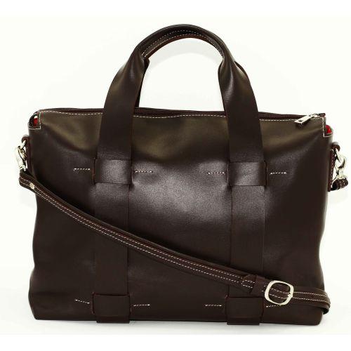 Женская кожаная сумка VATTO Wk23 Kaz400 коричневая