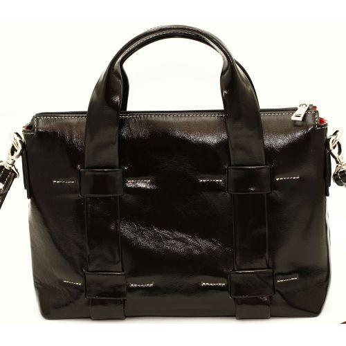 Женская кожаная сумка VATTO Wk23 Napl1 черная
