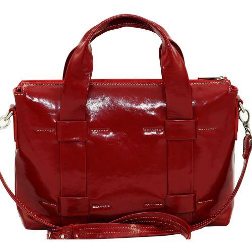 Женская кожаная сумка VATTO Wk23 Napl3 красная