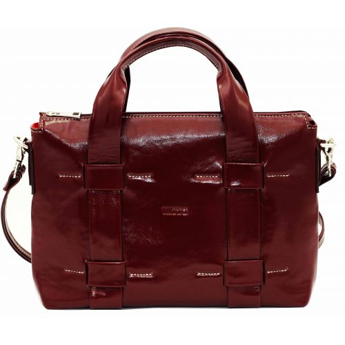 Женская кожаная сумка VATTO Wk23 Napl4 бордовая