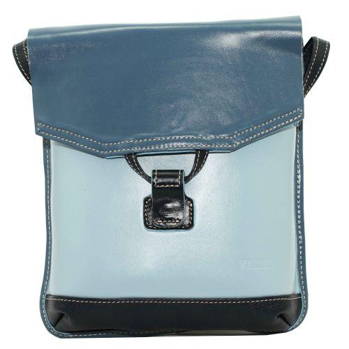 Женская кожаная сумка Wk29 N7.2Fl1 голубая