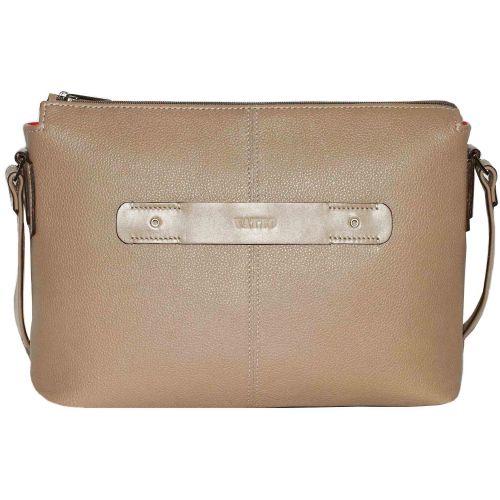 Женская кожаная сумка Wk31 Fl5N1 бежевая
