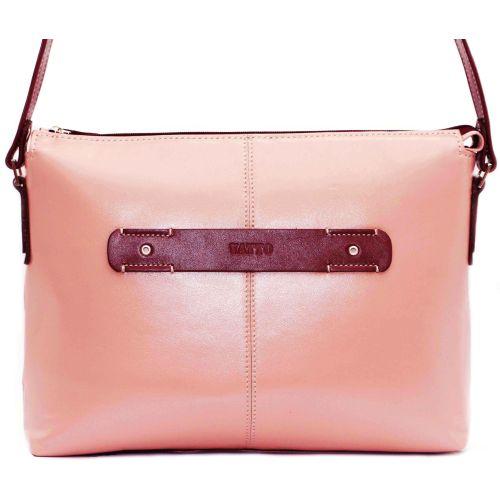 Женская кожаная сумка Wk31N6.5 бежевая