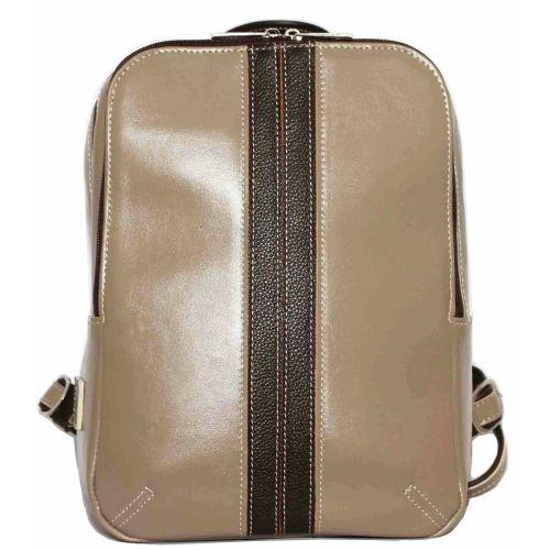 Женский кожаный рюкзак VATTO Wk37 N3Fl3 бежевый