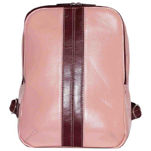 Женский кожаный рюкзак VATTO Wk37 N6.5 розовый