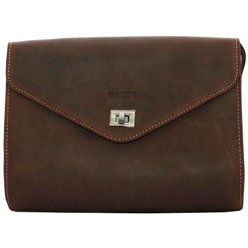 Женская кожаная сумка VATTO Wk4 Kr450 коричневая