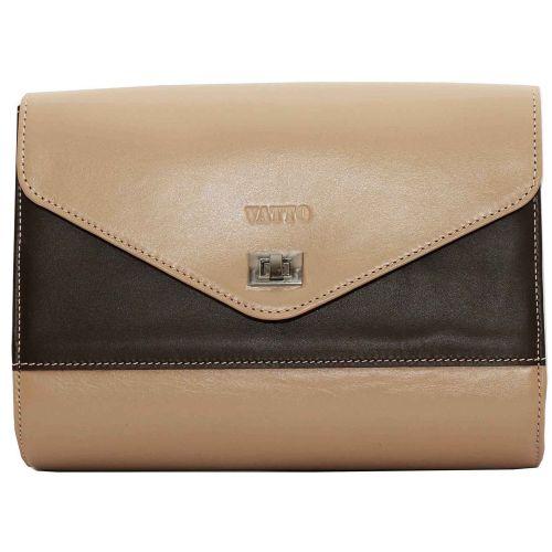 Женская кожаная сумка VATTO Wk4 N1Kaz400 бежевая