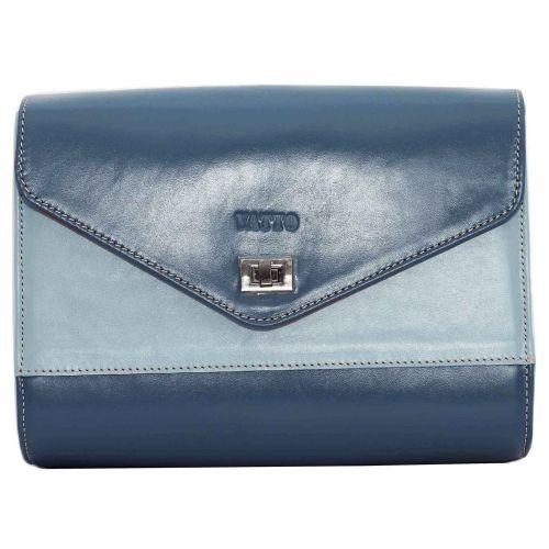 Женская кожаная сумка VATTO Wk4 N7.2 голубая