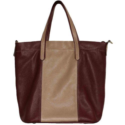Женская кожаная сумка VATTO Wk43 Fl5.4 бордовая