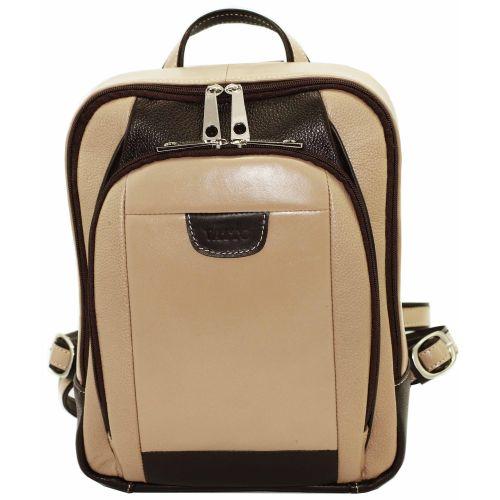 Женский кожаный рюкзак VATTO Wk47 Fl5.3N3Kaz400 бежевый