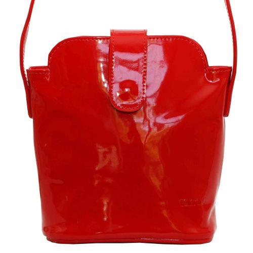 Женская кожаная сумка Wk49 L3 красная