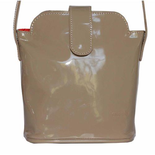 Женская кожаная сумка Wk49 L5 бежевая