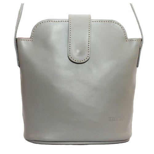 Женская кожаная сумка Wk49 SP3 серая