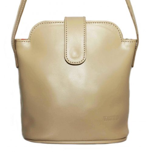 Женская кожаная сумка Wk49 Sp4 бежевая