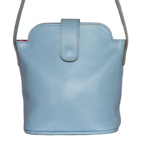 Женская кожаная сумка Wk49 Sp5 голубая