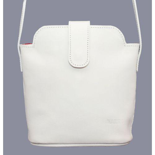 Женская кожаная сумка Wk49Sp2 белая