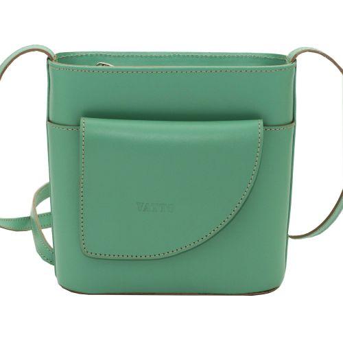 Женская кожаная сумка VATTO Wk50 Sp310 зеленая