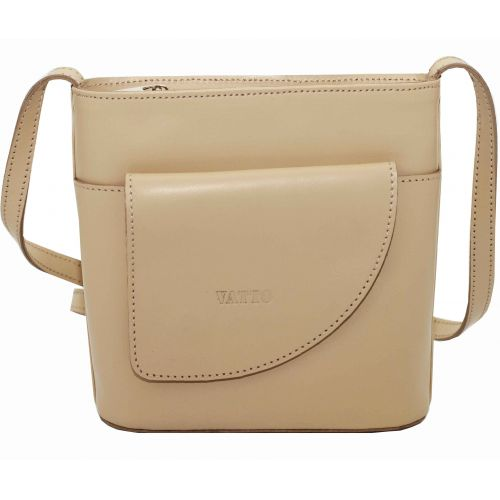 Женская кожаная сумка VATTO Wk50 Sp4 бежевая