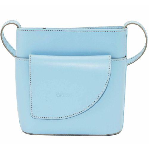 Женская кожаная сумка VATTO Wk50 SP5 голубая