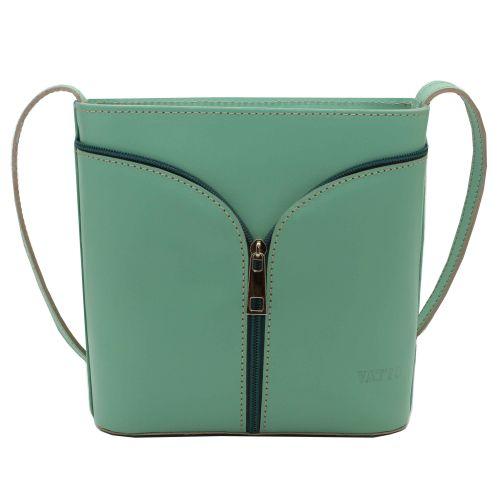 Женская кожаная сумка VATTO Wk51 Sp310 зеленая