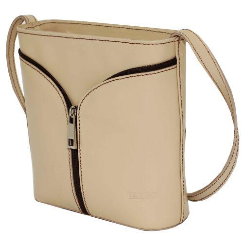 Женская кожаная сумка VATTO Wk51 Sp4 бежевая