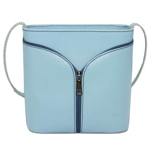 Женская кожаная сумка VATTO Wk51 Sp5 голубая
