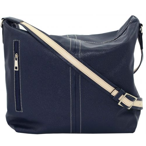 Женская кожаная сумка VATTO Wk53 Fl1 синяя