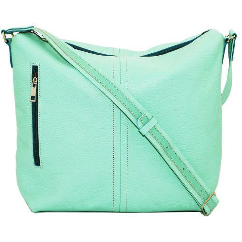 Женская кожаная сумка VATTO Wk53 Fl10 ментоловая