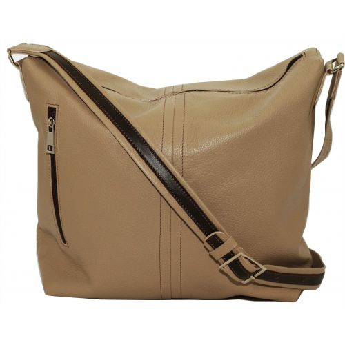 Женская кожаная сумка VATTO Wk53 Fl5 бежевая