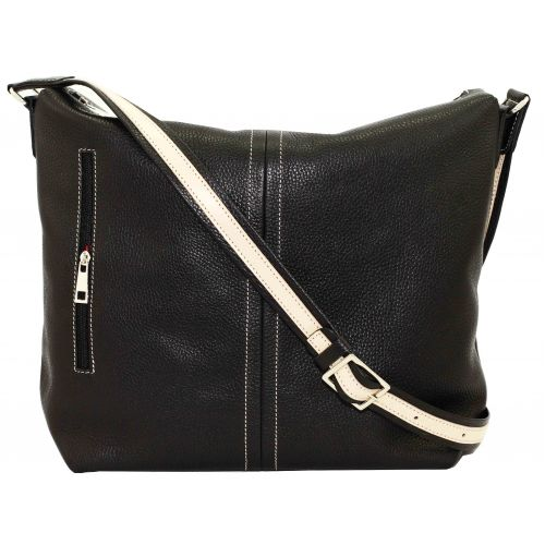 Женская кожаная сумка VATTO Wk53 Fl8 черная