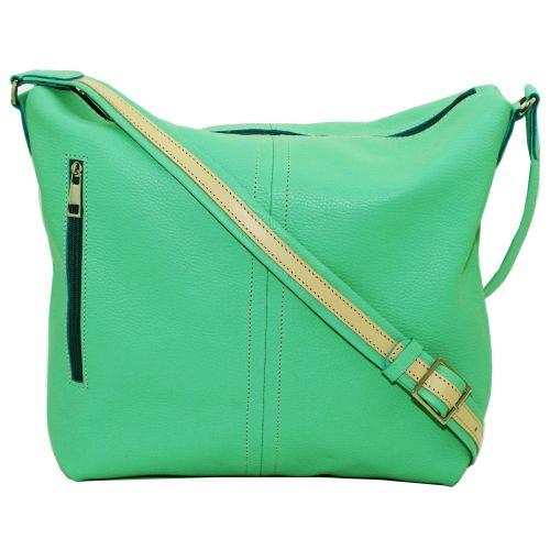 Женская кожаная сумка VATTO Wk53 Fl9 зеленая