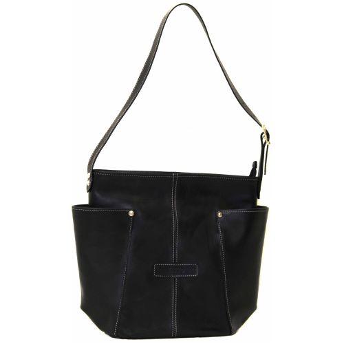 Женская кожаная сумка VATTO Wk7Kaz1 черная