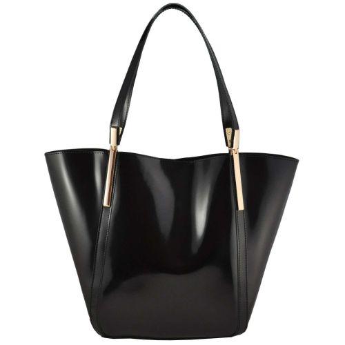 Женская сумка Shopper кожаная черная