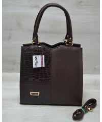 Женская сумка Треугольник коричневого цвета 31710