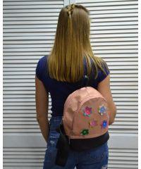 Молодежный рюкзак «Цветочки» пудровый 42302