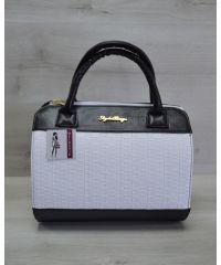 Женская сумка Плетенка белого цвета 52103
