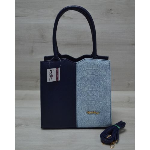 Женская сумка Треугольник синего цвета 31707