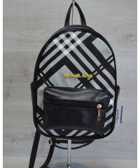 Молодежный рюкзак Корс черная клетка 43303