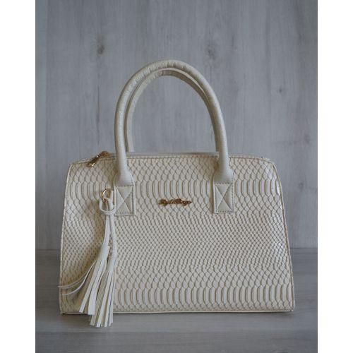 Женская сумка Кисточка бежевого цвета 52001