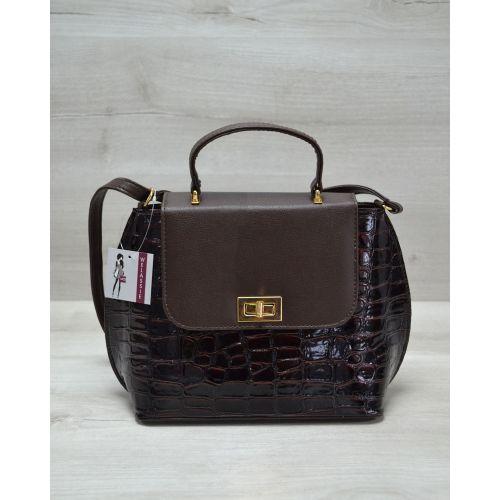 Женская сумка-клатч коричневая 61410