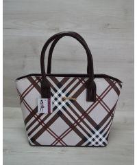 Женская сумка «Две змейки» коричневая барбери 11514