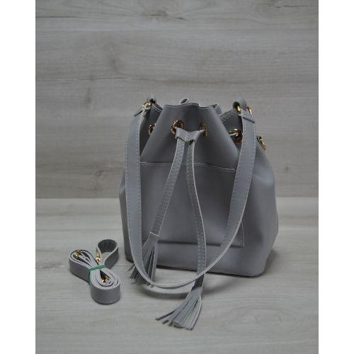 Сумка Люверс серого цвета 23101