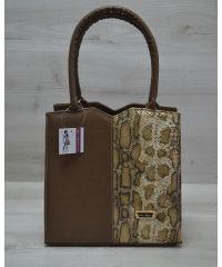Женская сумка Треугольник кофейного цвета 31701
