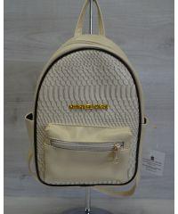 Молодежный рюкзак Корс бежевая рептилия 43302