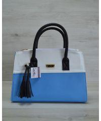 Женская сумка Кисточка голубая 52010