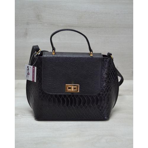 Женская сумка-клатч черная кобра 61409