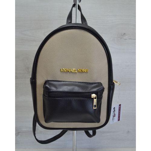 Молодежный рюкзак Корс кофейная вставка 43301