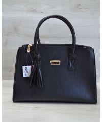 Женская сумка Кисточка черного цвета 52011
